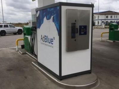 Budka AdBlue z szarym panelem